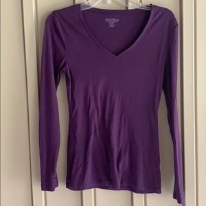 Old Navy Purple Long Sleeve Shirt
